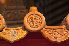 De Verboden Stad Peking van het Dak van de draak Decoratie Stock Afbeelding