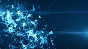 De verbonden Achtergrond van Digitaal Netwerkinternet royalty-vrije illustratie