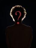 De verborgen identiteit, wie is deze persoon? Royalty-vrije Stock Fotografie