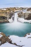 De verborgen waterval wanneer overgangsseizoen Stock Foto