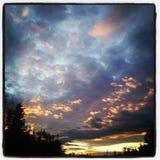 De verbrijzelde hemel of verbrijzeld ligt stock fotografie