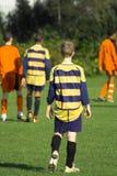 De verdediger van het voetbal Stock Afbeelding