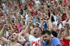 De Verdedigers van FC Dinamo Boekarest Royalty-vrije Stock Afbeeldingen