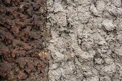 De verdeelde lichte en donkere textuur van de cementmuur Royalty-vrije Stock Fotografie