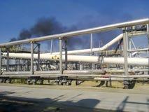 De verdeler van de eindfase is tubulair Materiaal om water van olie te scheiden Materiaalolievelden van Westelijk Siberië Royalty-vrije Stock Afbeelding