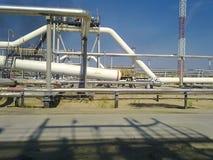 De verdeler van de eindfase is tubulair Materiaal om water van olie te scheiden Materiaalolievelden van Westelijk Siberië Royalty-vrije Stock Foto