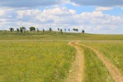 De verdraaiende landelijke weg die nergens gaan in Stock Fotografie