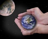 De verduistering van de aarde   Stock Afbeeldingen
