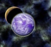 De Verduistering van de maan royalty-vrije illustratie