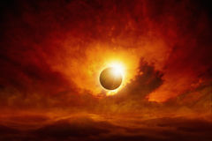 De verduistering van de zon Stock Afbeelding