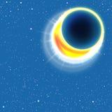 De verduistering van de zon Vector illustratie Stock Afbeelding