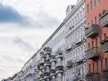 De verdwijnende flatgebouwen van het puntperspectief Royalty-vrije Stock Fotografie