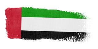 De Verenigde Arabische Emiraten van de penseelstreek Vlag Stock Fotografie