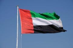 De verenigde Arabische Vlag van Emiraten Stock Afbeeldingen