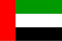 De verenigde Arabische vlag van Emiraten Stock Foto