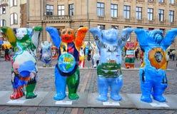 De Verenigde Buddy Bears-tentoonstelling op vertoning op het Koepelvierkant royalty-vrije stock afbeeldingen