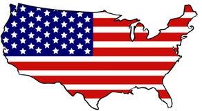 De verenigde kaart van de staat stock illustratie