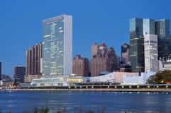 De Verenigde Naties die de Stad van New York bouwen Stock Afbeelding