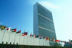 De Verenigde Naties die, NY, NY bouwen Royalty-vrije Stock Fotografie