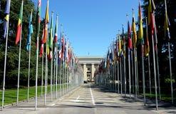 De Verenigde Naties in Genève, Zwitserland royalty-vrije stock fotografie