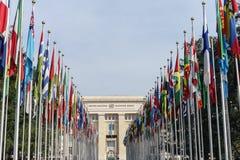 De Verenigde Naties in Genève Stock Foto's