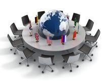 De Verenigde Naties, globale politiek, diplomatie, strate stock illustratie