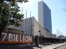 De Verenigde Naties voor de wereldbevolking van 7 Miljard royalty-vrije stock foto's