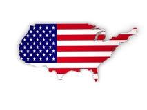 De Verenigde Staten van Amerika, 3d land van de V.S. Royalty-vrije Stock Foto's