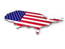 De Verenigde Staten van Amerika, 3d land van de V.S. Royalty-vrije Stock Fotografie