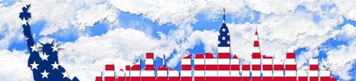 De Verenigde Staten van Amerika 4 van Juli, het concept van de Onafhankelijkheidsdag Royalty-vrije Stock Afbeeldingen