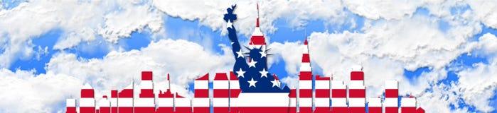 De Verenigde Staten van Amerika 4 van Juli, het concept van de Onafhankelijkheidsdag Stock Fotografie