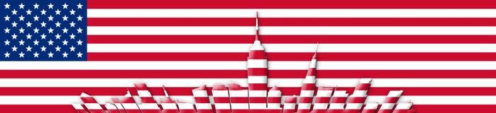 De Verenigde Staten van Amerika 4 van Juli, het concept van de Onafhankelijkheidsdag Stock Foto's