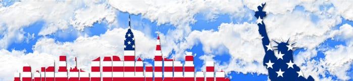De Verenigde Staten van Amerika 4 van Juli, het concept van de Onafhankelijkheidsdag Royalty-vrije Stock Foto
