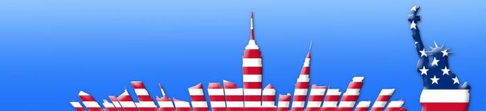 De Verenigde Staten van Amerika 4 van Juli, het concept van de Onafhankelijkheidsdag Stock Afbeelding