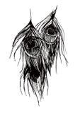 De verenvector van de pauw Stock Afbeeldingen