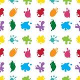 De verf bespat naadloos kleurenpatroon Stock Fotografie