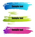 De verf grunge banners van de kleur Stock Afbeeldingen