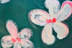 De verf van de bloem. Stock Fotografie