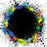 De verf van de kleur bespat grens. De vector van de gradiënt backg Royalty-vrije Stock Afbeelding
