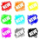 De verf van de kleur splat plaatste nieuw concept vector illustratie