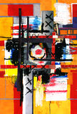 De verf van de kunst en van de collage en samenvatting en kleur Royalty-vrije Stock Foto