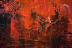 De verf van Grunge op metaalachtergrond stock foto