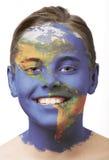 De verf van het gezicht - Amerika stock foto