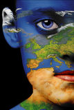 De verf van het gezicht - Europa Royalty-vrije Stock Foto
