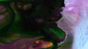De Verf van de oppervlakte Bewegende Oppervlakte Vloeibare Textuur Als achtergrond stock videobeelden