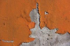 De Verf van de schil op Muur stock fotografie
