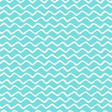 De de Verfborstel van de chevronzigzag strijkt Naadloos patroon Vector Abstracte blauwe en witte de zigzagachtergrond van Grunge royalty-vrije illustratie
