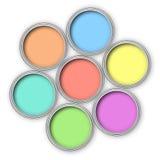 De verfemmers van de pastelkleur stock illustratie