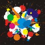 De verfplonsen van de kleur. Vector achtergrond Stock Afbeeldingen
