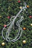 De verfraaide achtergrond van de Kerstboom Royalty-vrije Stock Afbeelding